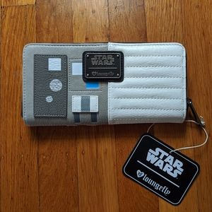 NWT LOUNGEFLY X STAR WARS X-WING COSPLAY WALLET